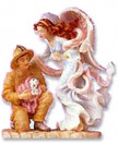 Caring Touch Angel with Fireman