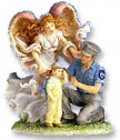 Caring Touch Angel with Policeman
